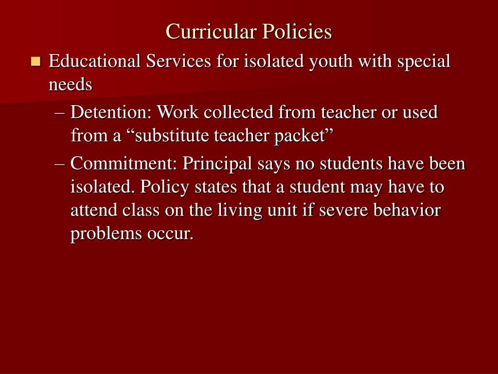 Curricular Policies