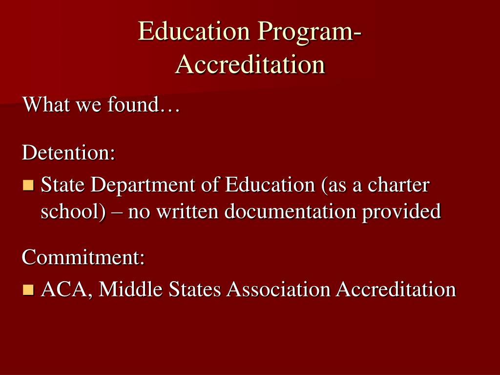 Education Program-