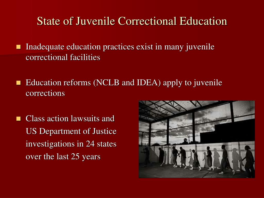 State of Juvenile Correctional Education
