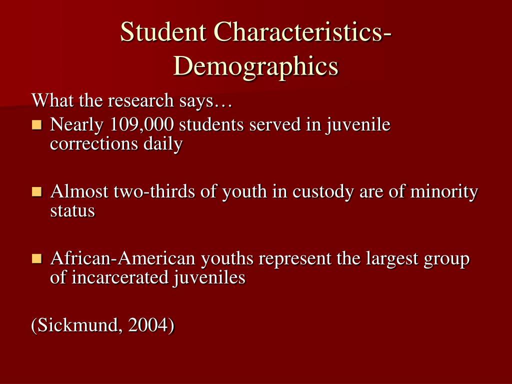 Student Characteristics-