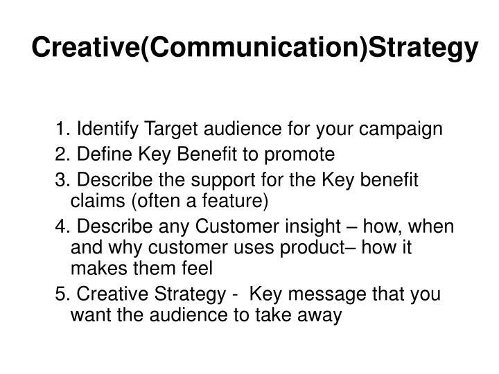Creative(Communication)Strategy