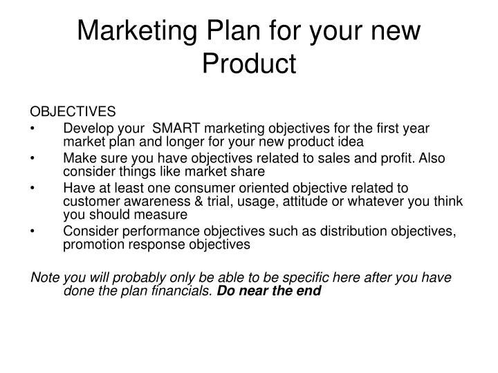 Marketing Plan for your new Product