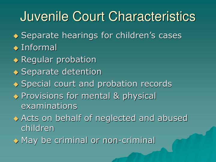 Juvenile Court Characteristics
