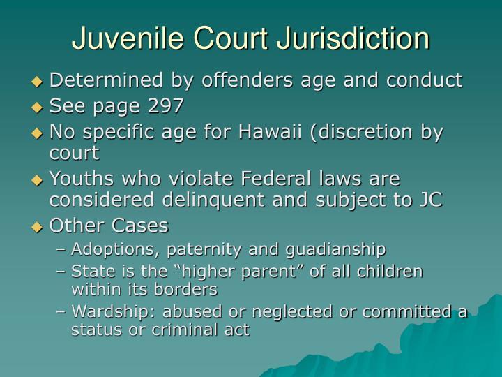 Juvenile Court Jurisdiction