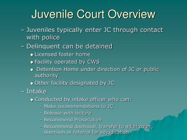 Juvenile Court Overview