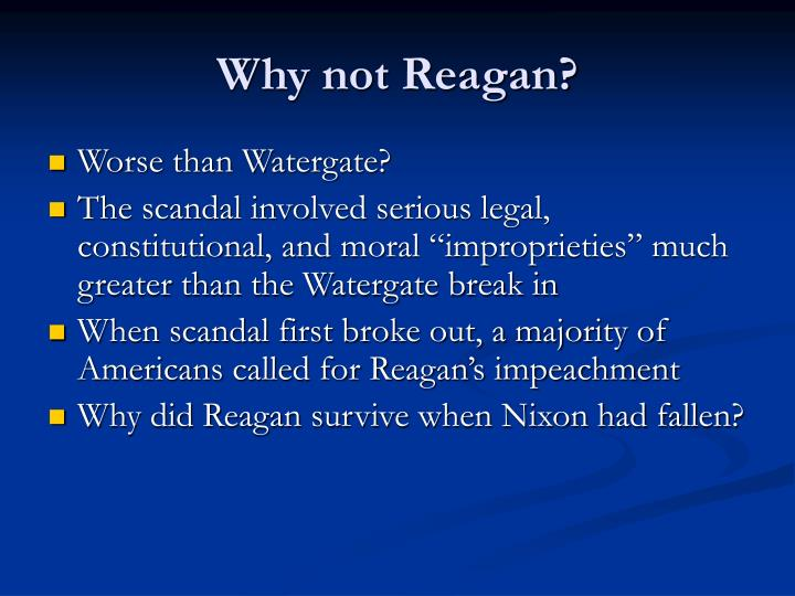 Why not Reagan?