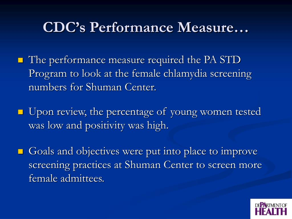 CDC's Performance Measure…