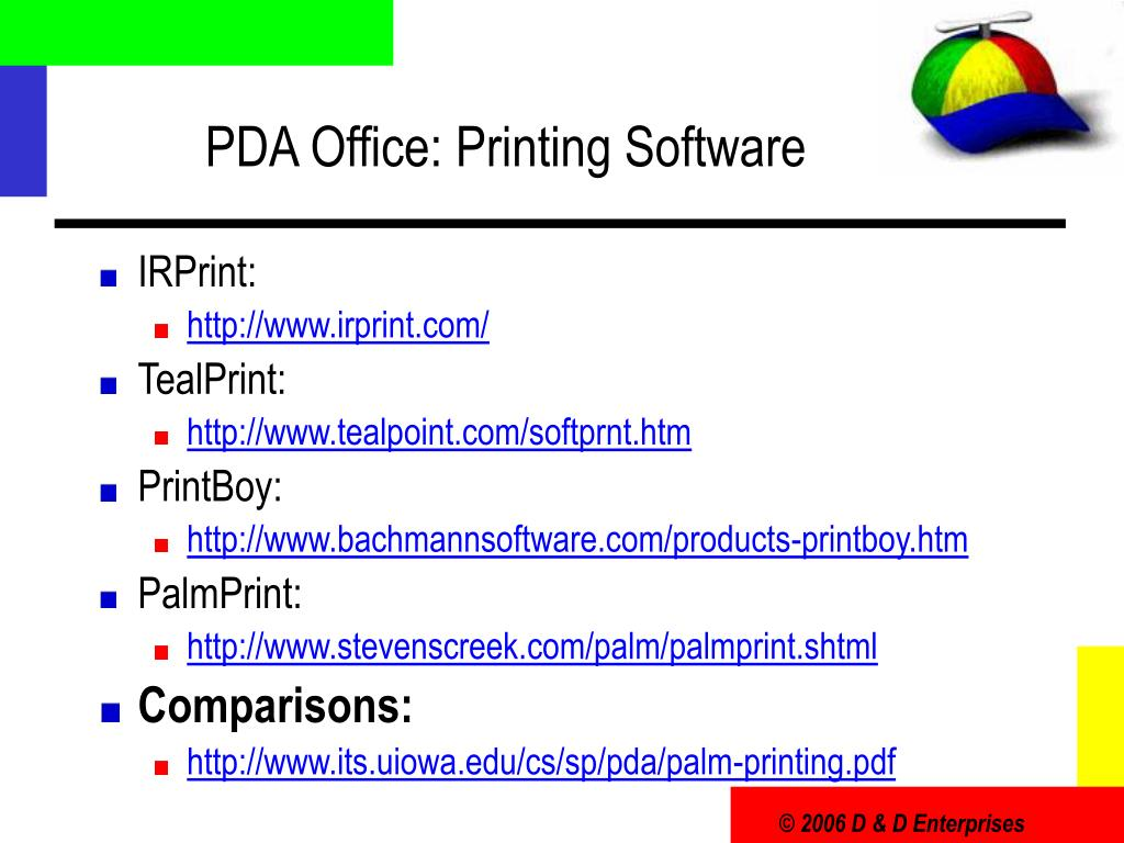PDA Office: Printing Software