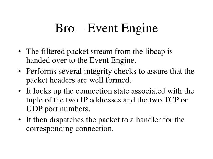 Bro – Event Engine