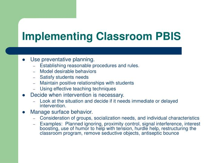 Implementing Classroom PBIS