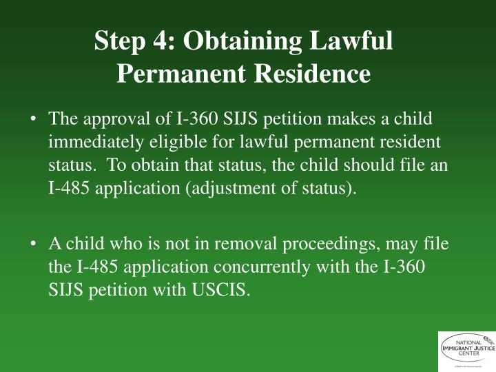 permanent resident visa application status