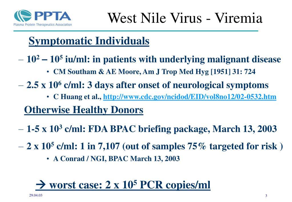 West Nile Virus - Viremia