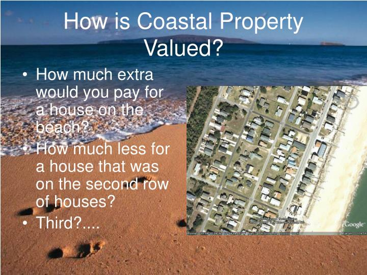 How is coastal property valued