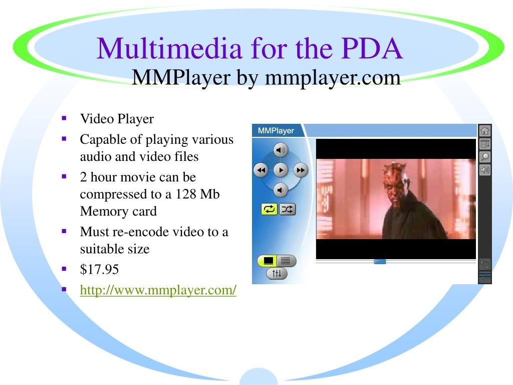 Multimedia for the PDA