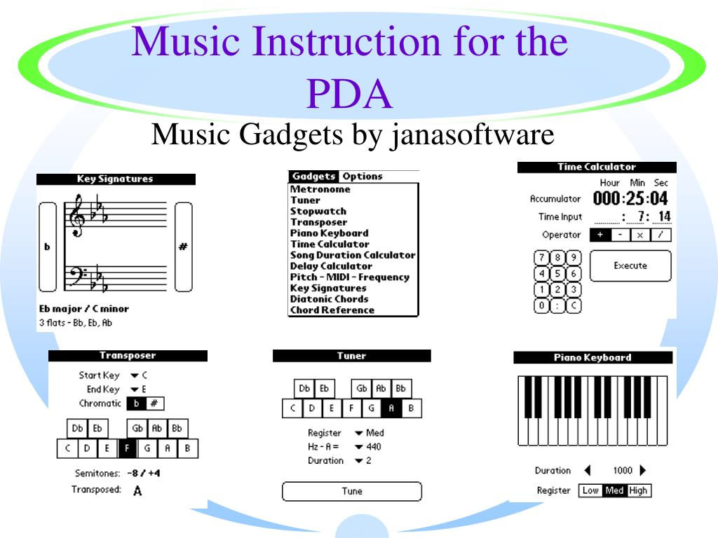 Music Instruction for the PDA