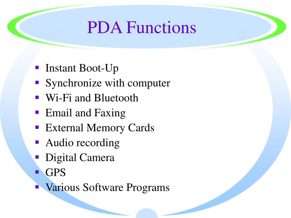 PDA Functions
