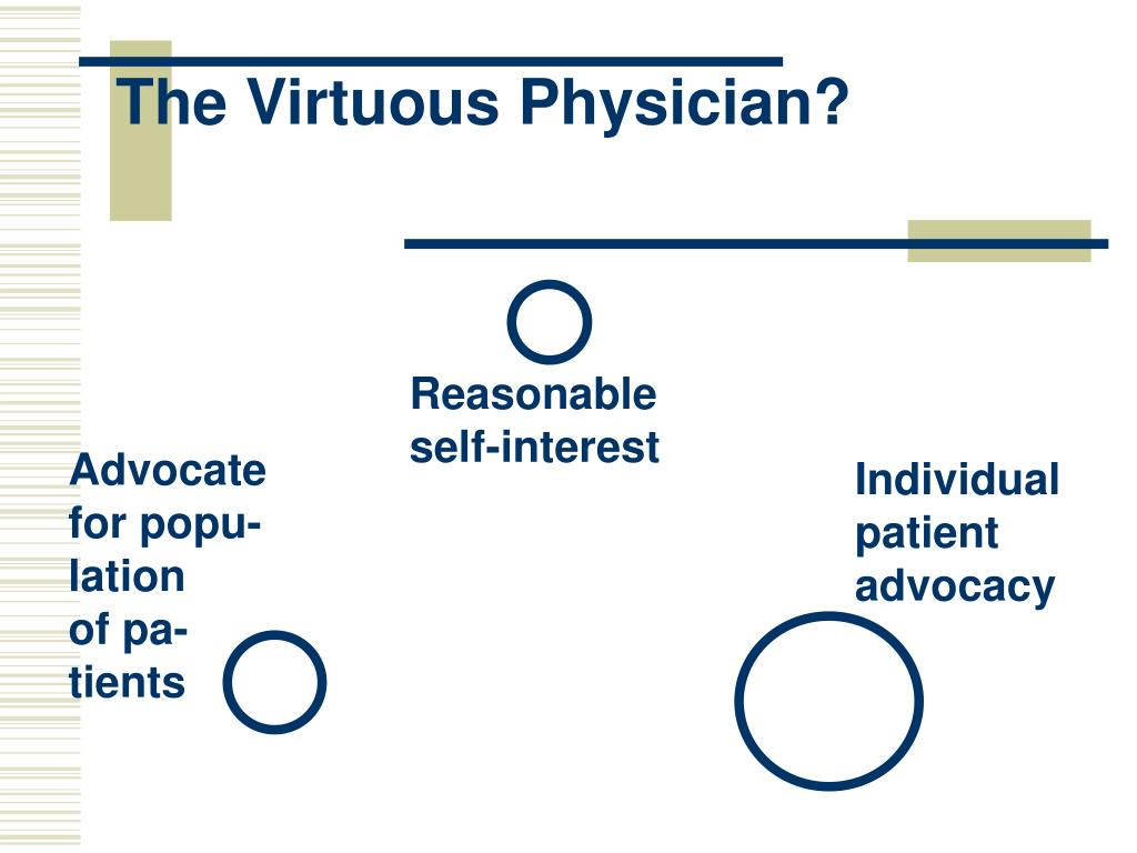 The Virtuous Physician?