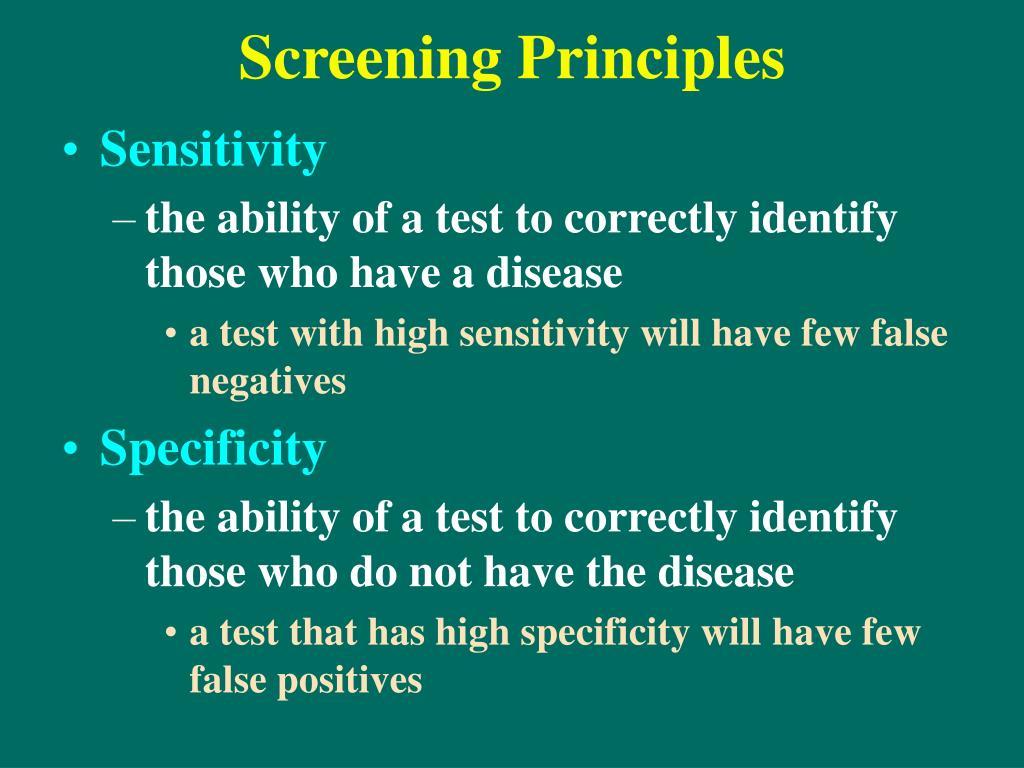 Screening Principles