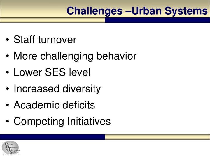 Challenges urban systems