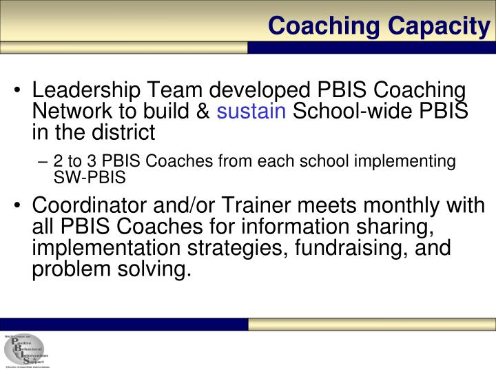 Coaching Capacity