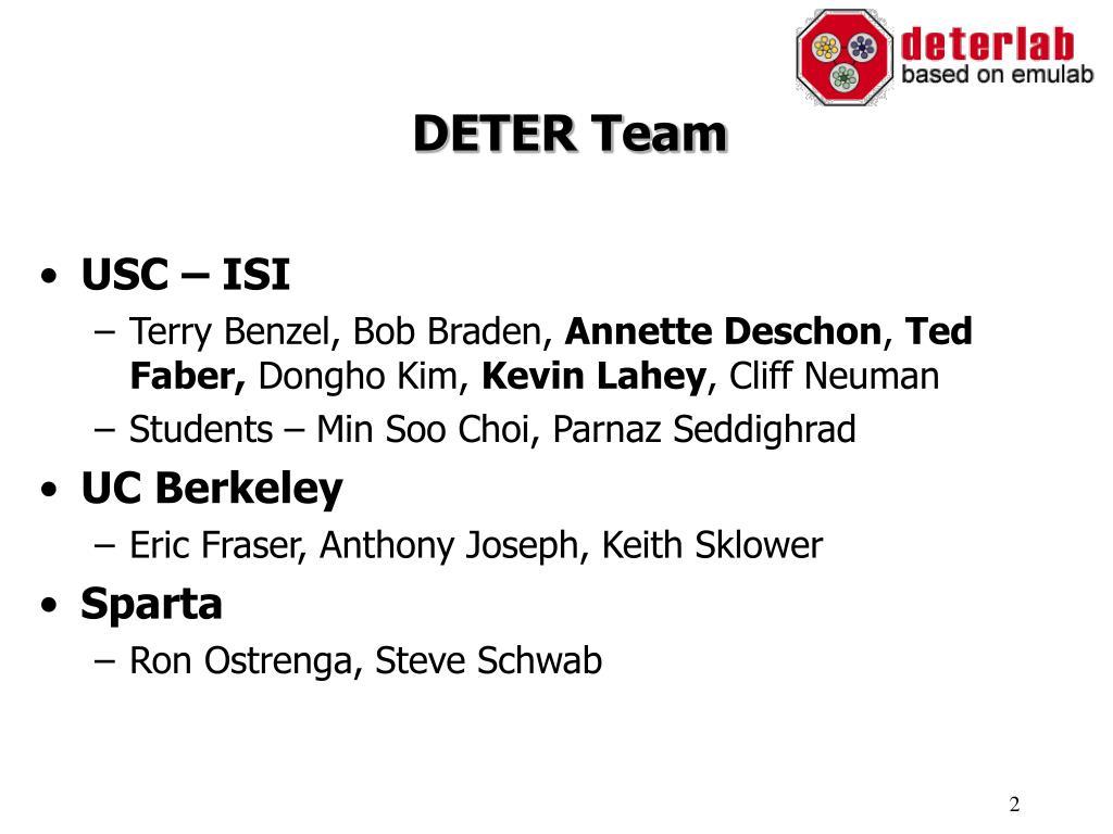 DETER Team