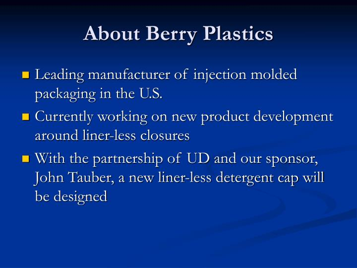 About berry plastics