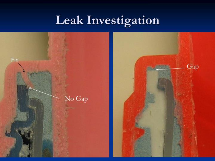 Leak Investigation