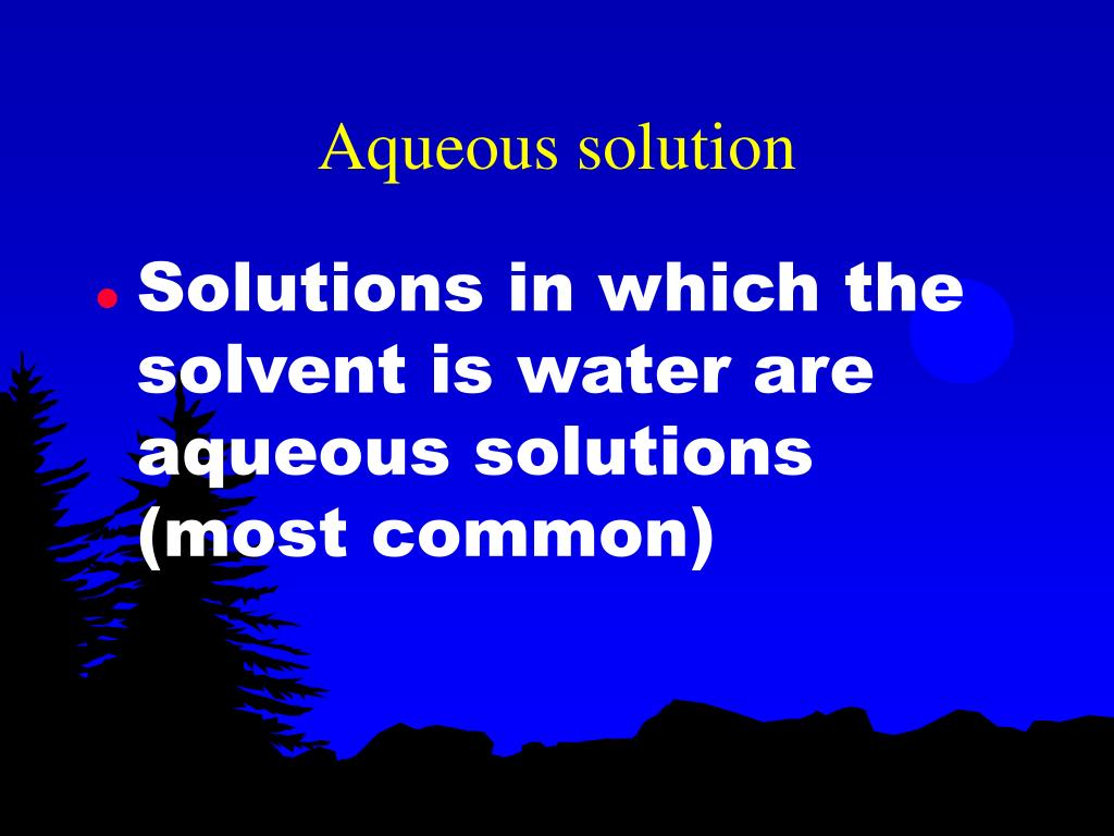 Aqueous solution
