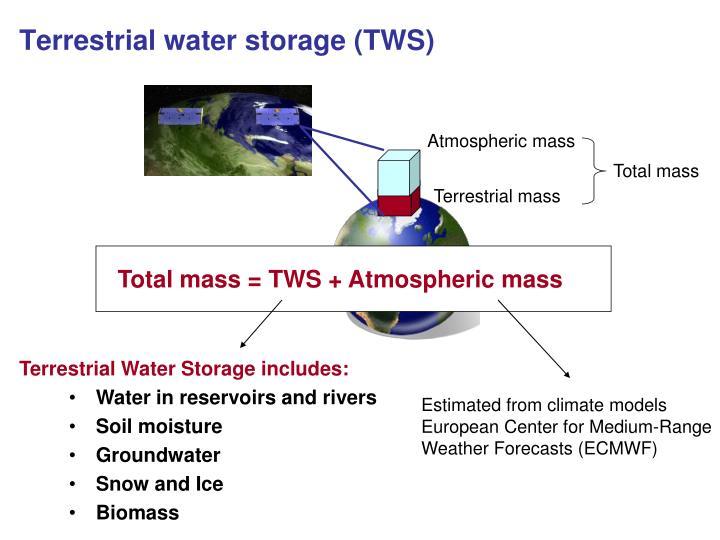 Terrestrial water storage (TWS)