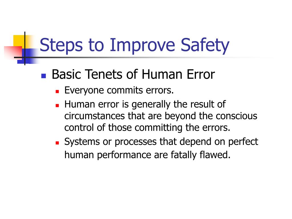 Steps to Improve Safety