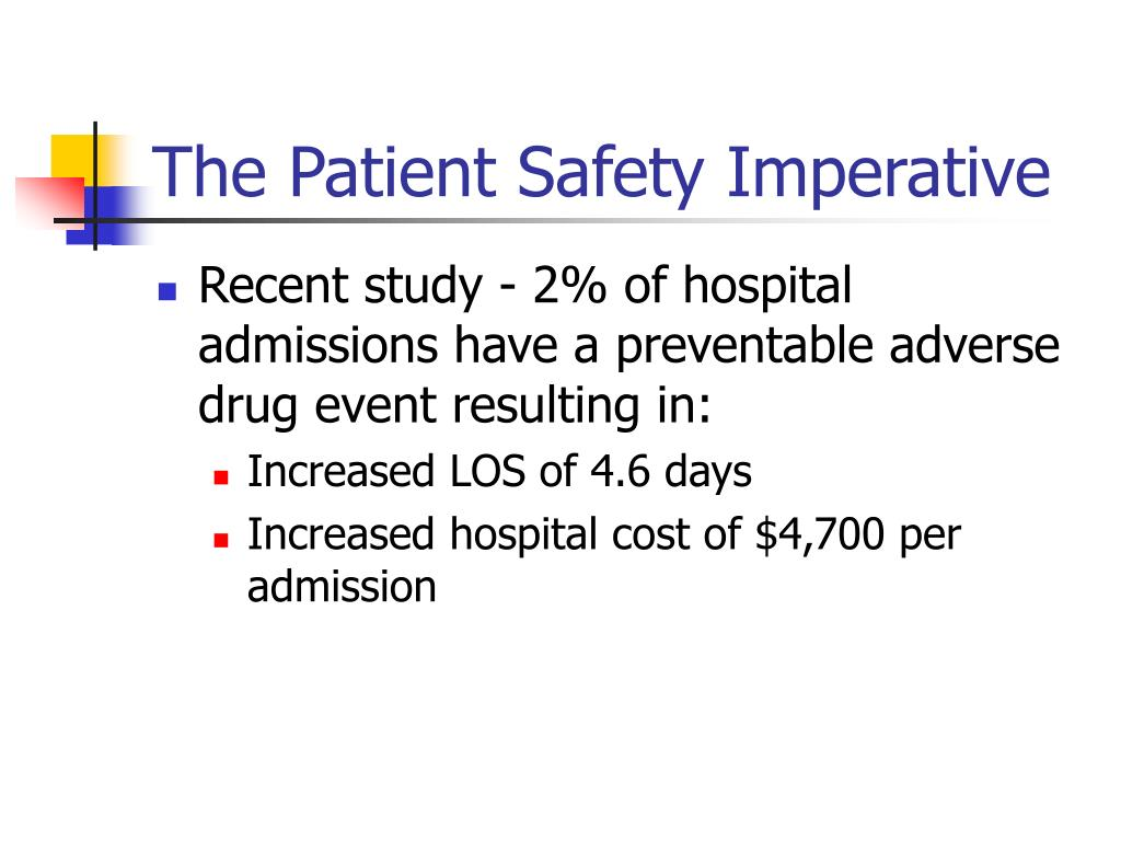 The Patient Safety Imperative