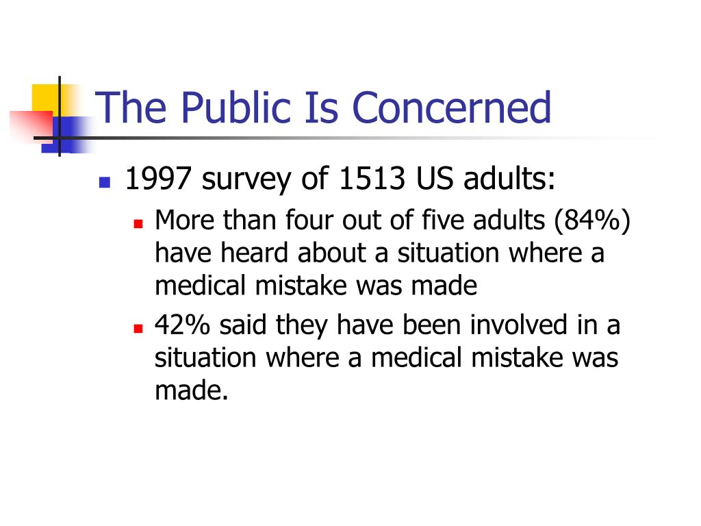 The Public Is Concerned