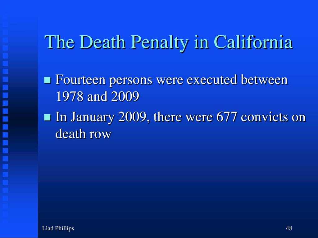 The Death Penalty in California