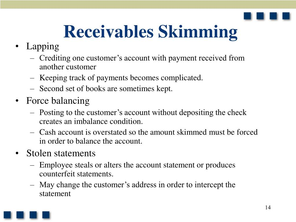 Receivables Skimming