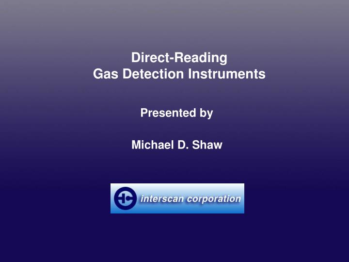 Direct-Reading