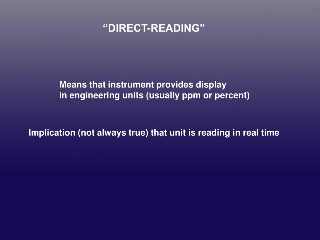 """DIRECT-READING"""