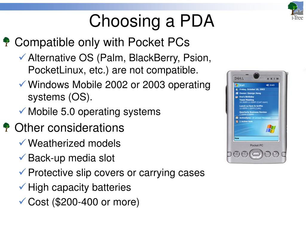 Choosing a PDA