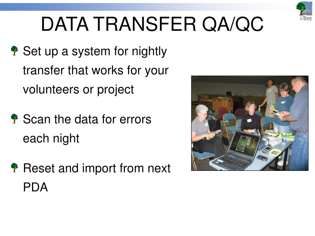 DATA TRANSFER QA/QC