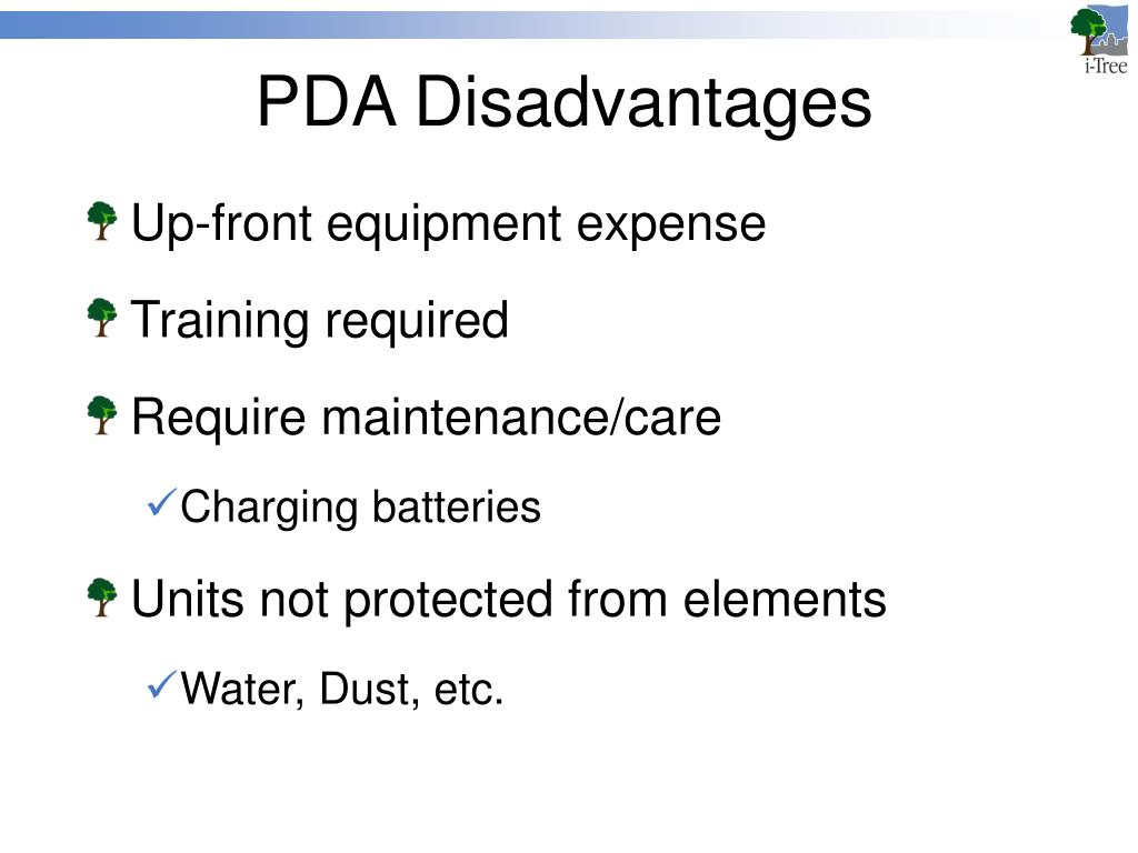 PDA Disadvantages