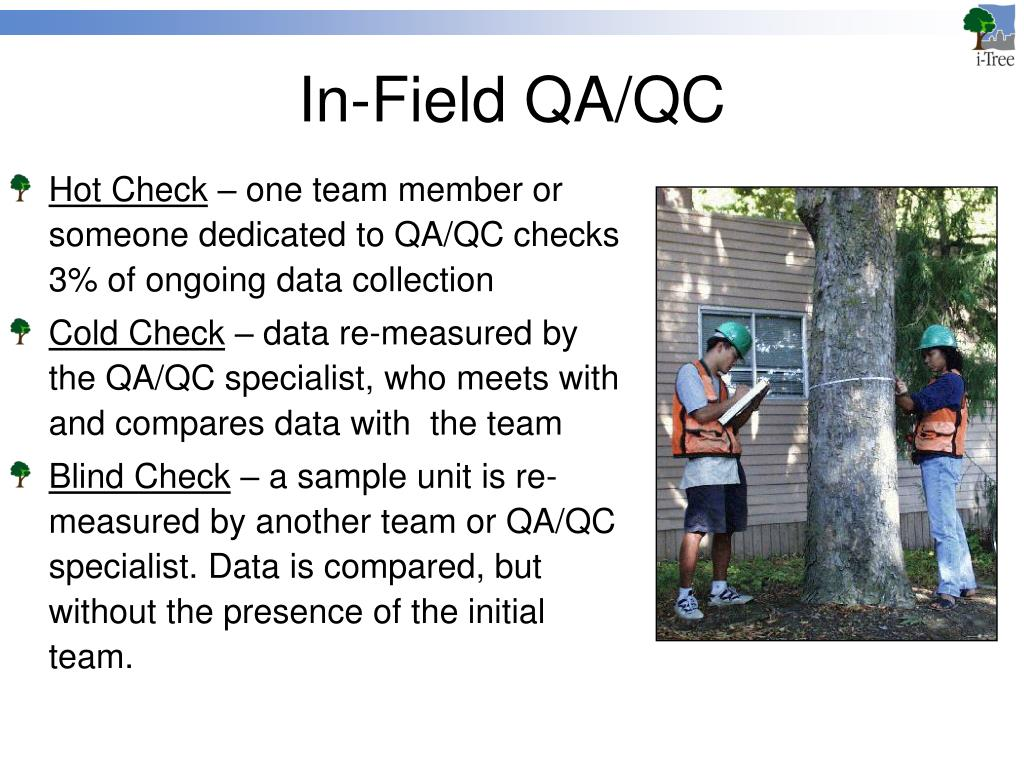 In-Field QA/QC