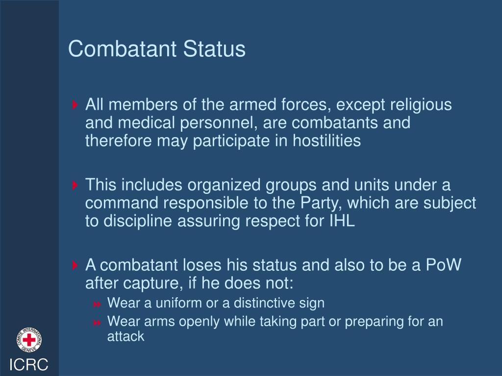 Combatant Status