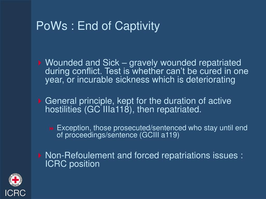 PoWs : End of Captivity