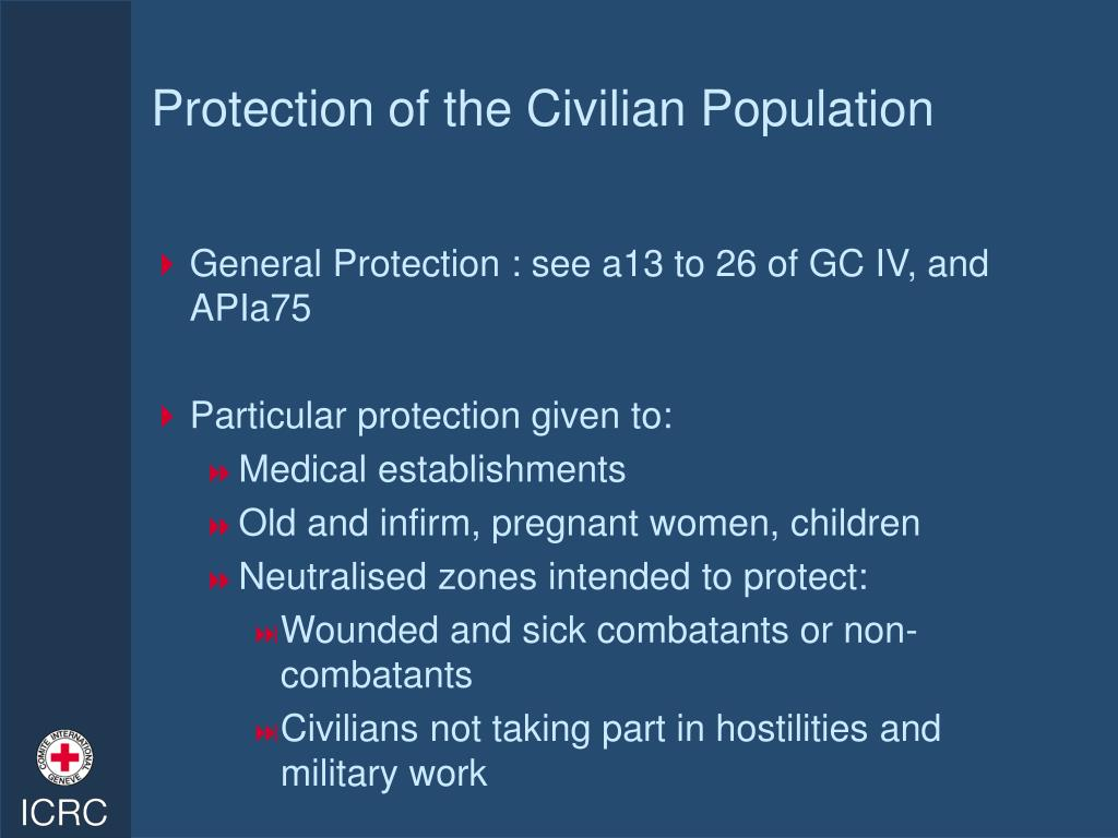 Protection of the Civilian Population