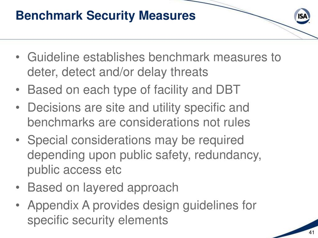 Benchmark Security Measures