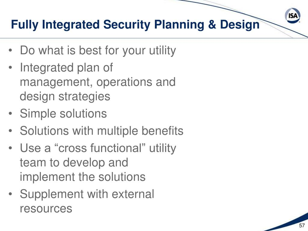 Fully Integrated Security Planning & Design