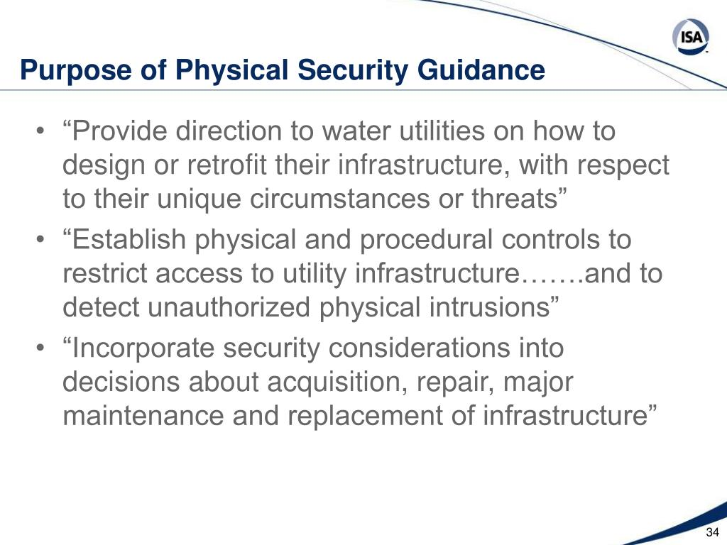 Purpose of Physical Security Guidance