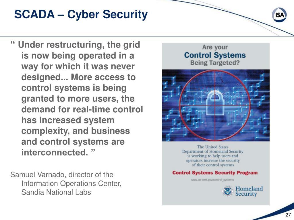 SCADA – Cyber Security