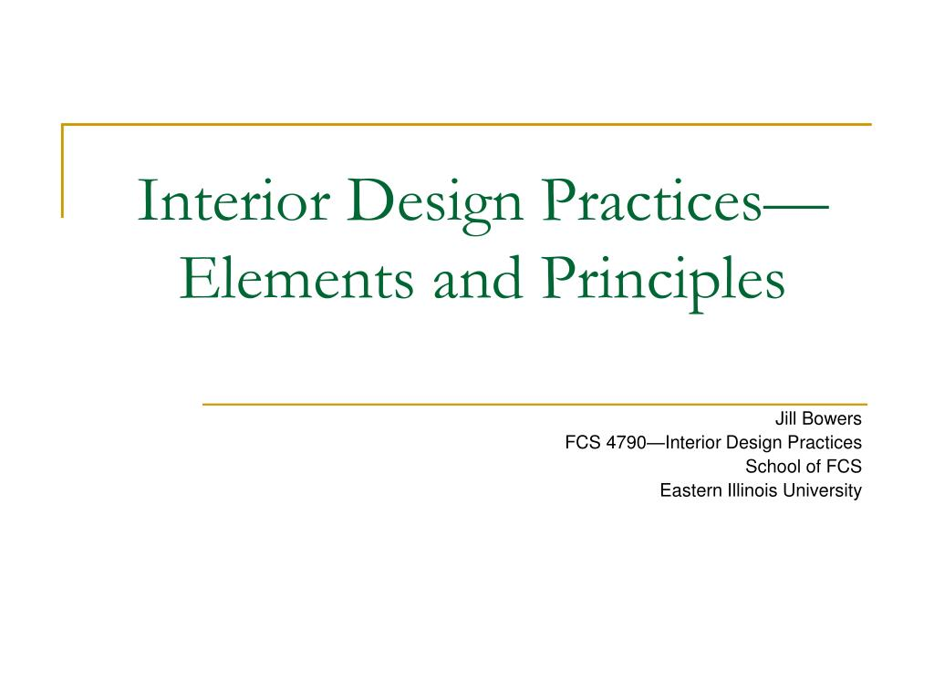 interior design practices elements and principles
