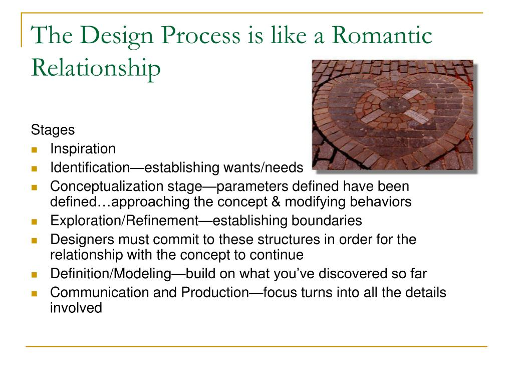 The Design Process is like a Romantic Relationship