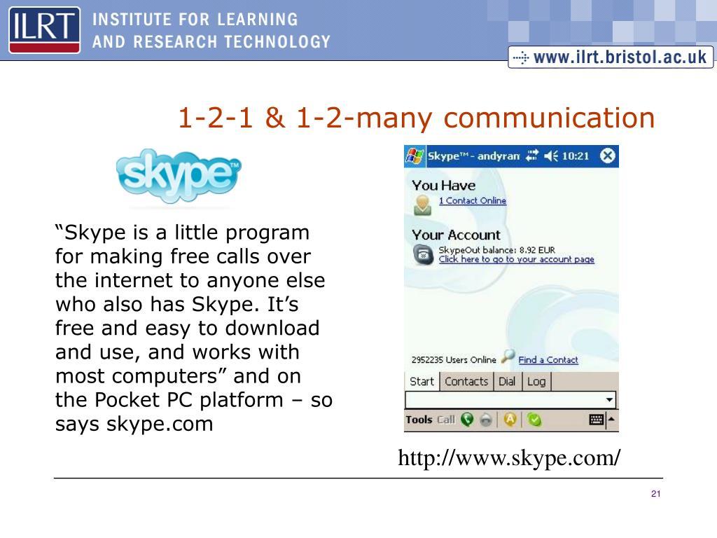 1-2-1 & 1-2-many communication